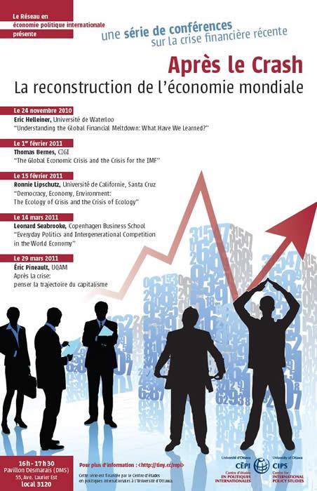 Après le crash: la reconstruction de l'économie mondiale