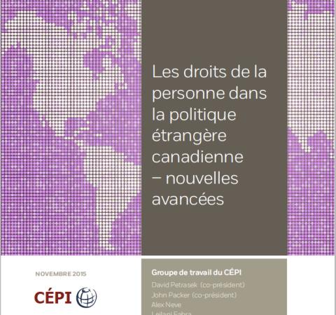 Groupe de travail sur les droits de la personne dans la politique étrangère canadienne