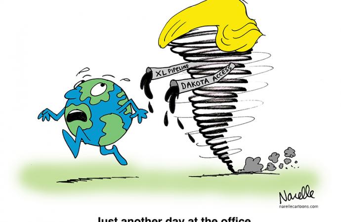 Trump vs. the Climate, Round 1