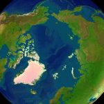 Geographic map of the Arctic